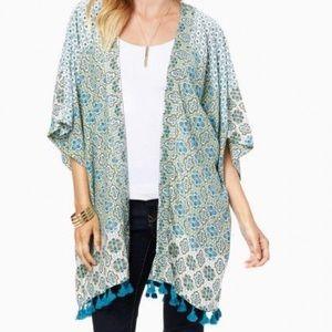 NWT Charming Charlie Boho Tassel Kimono